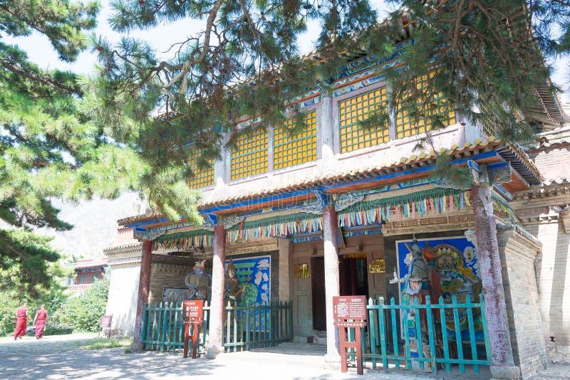 INNER MONGOLIA, CHINA - 14 de agosto de 2015: Lamasery de Meidai (Meidai Zha fotos de stock