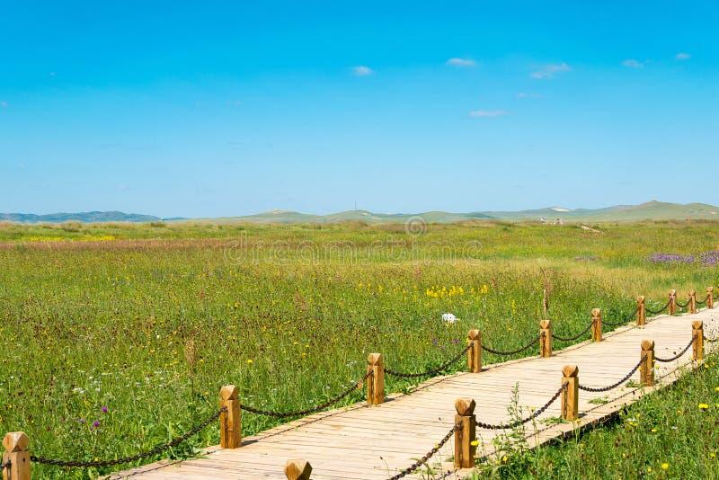 INNER MONGOLIA, CHINA - 10 de agosto de 2015: Local de Xanadu (mundo Herit fotos de stock