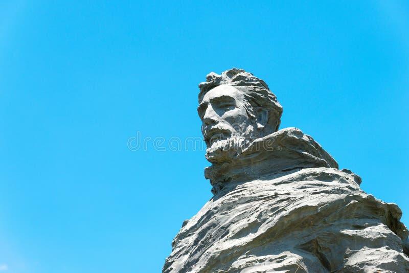 INNER MONGOLIA, CHINA - 10 de agosto de 2015: Marco Polo Statue em Kublai imagens de stock royalty free