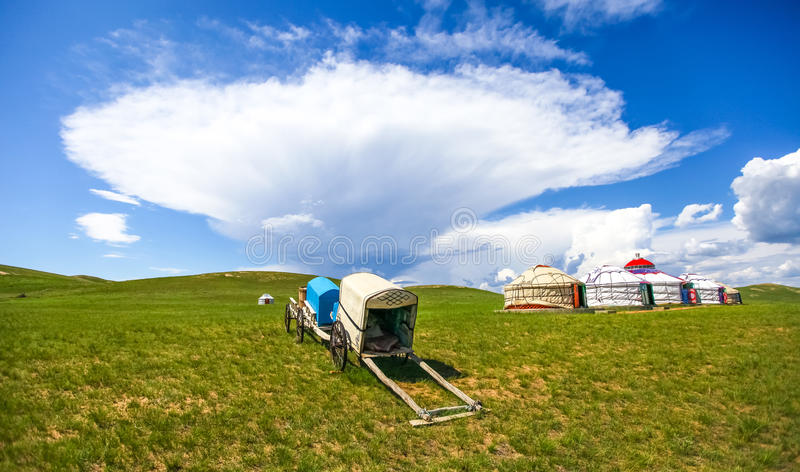 Inner Mongolia grassland stock photo