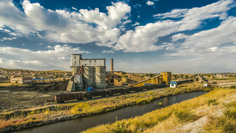 Inner Mongolia - kleine Kohle mines1 stockbilder