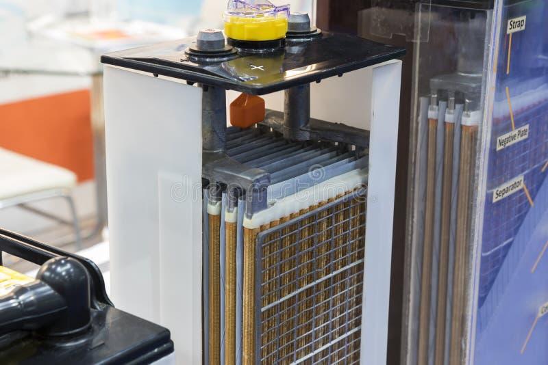 inner oder Querschnitt der industriellen Batterie lizenzfreie stockfotografie
