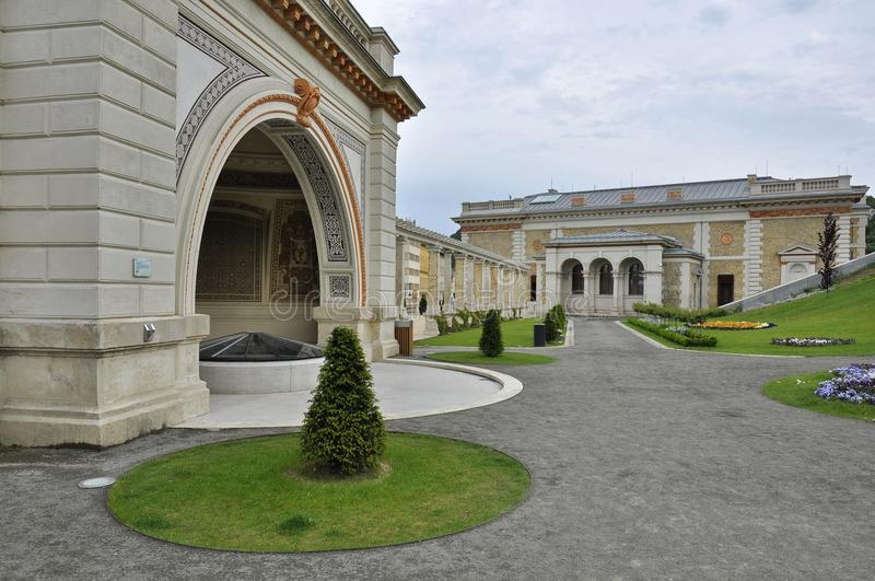 The inner park of the Castle Garden Bazaar royalty free stock photos