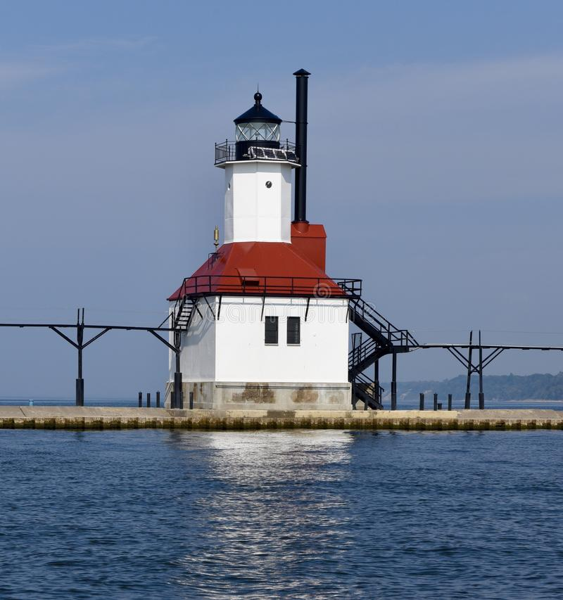 Inner Range Light. This is a Fall picture of the iconic Inner Range Light that make up the St. Joseph Lighthouse Complex on Lake Michigan located in St. Joseph royalty free stock photography