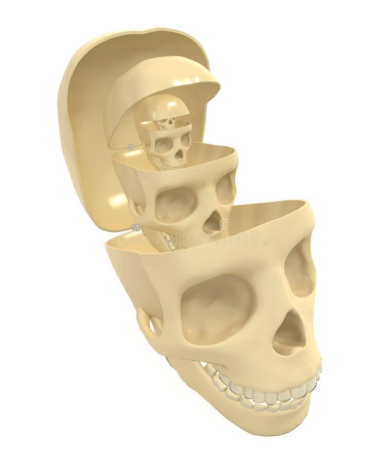 Download Inner Skulls stock illustration. Image of stack, death - 10983573