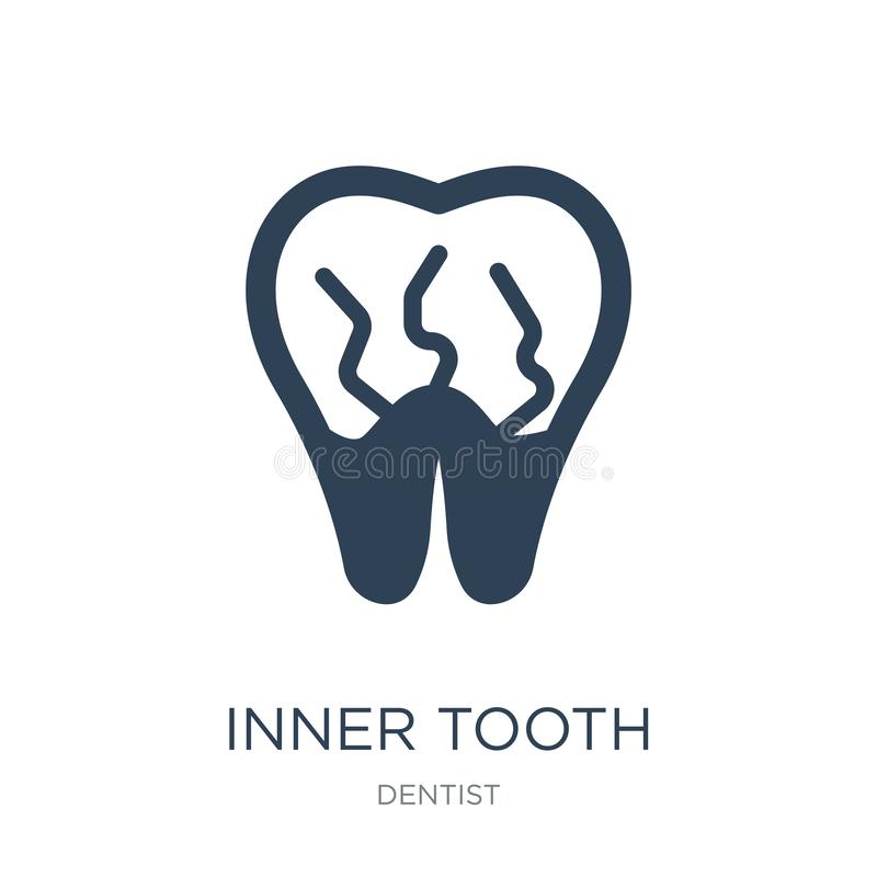 inner tooth icon in trendy design style. inner tooth icon isolated on white background. inner tooth vector icon simple and modern stock illustration