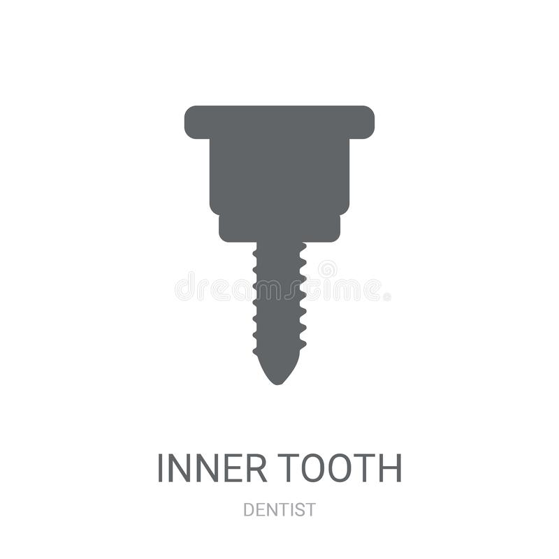 Inner Tooth icon. Trendy Inner Tooth logo concept on white background from Dentist collection vector illustration