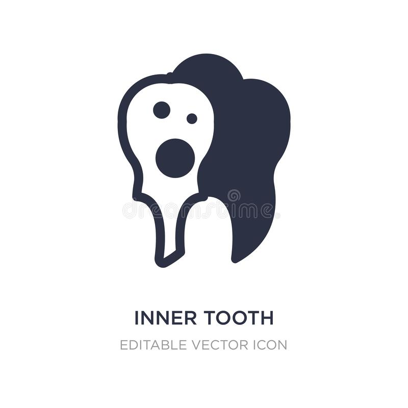 inner tooth icon on white background. Simple element illustration from Dentist concept royalty free illustration