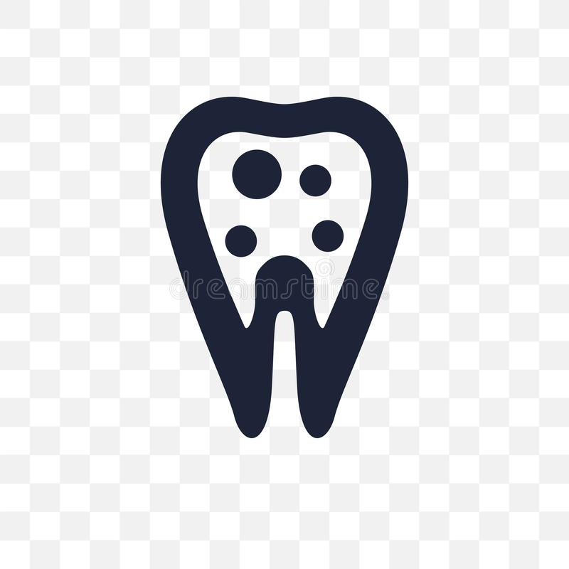 Inner Tooth transparent icon. Inner Tooth symbol design from Den vector illustration