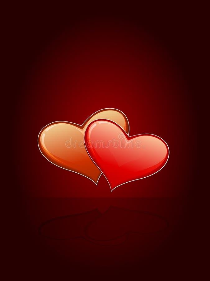 Inner-Valentinsgruß-Karte stock abbildung