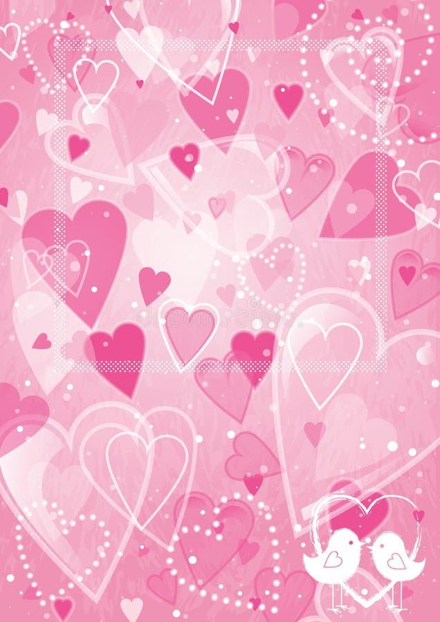 Inner-Valentinsgrußtageshintergrund stock abbildung