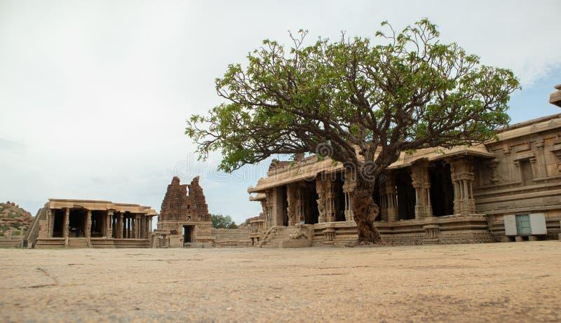 The Inner view of Vittala or Vitthala Temple complex in Hampi, Karnataka state, India. The Inner view of Vittala or Vitthala Temple complex in Hampi, Karnataka stock images