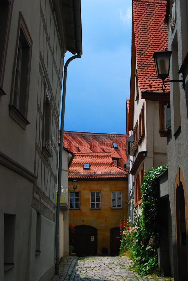 Download Inner yard in Bamberg stock image. Image of bamberg, cloud - 12650587
