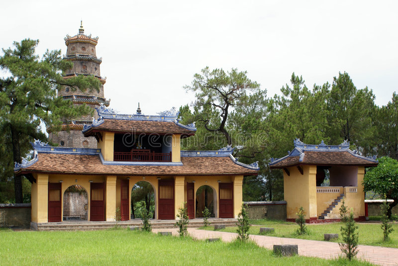 Download Inner yard of Thien Mu stock image. Image of architecture - 6151473