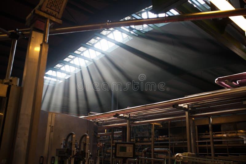 Innere Fabrik lizenzfreies stockbild