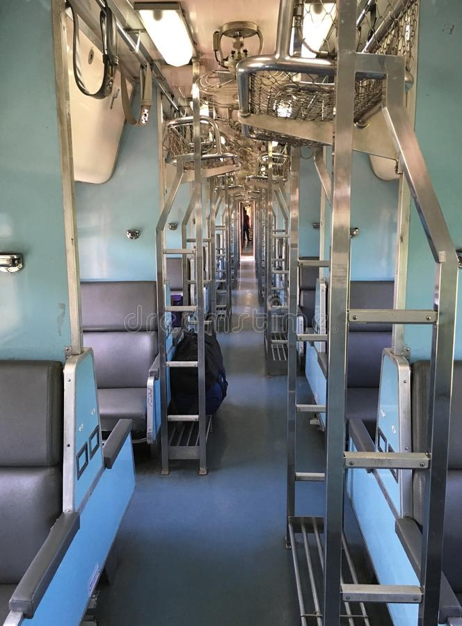 Innere im Zug stockfoto