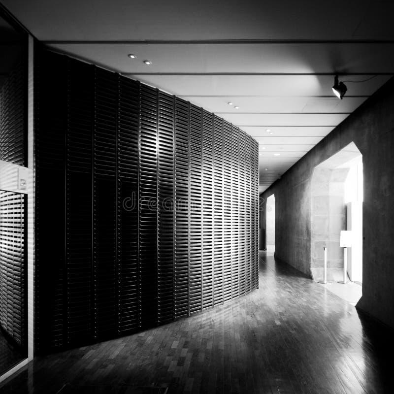 Innere La Grande Arche-La-Verteidigung Paris lizenzfreies stockfoto