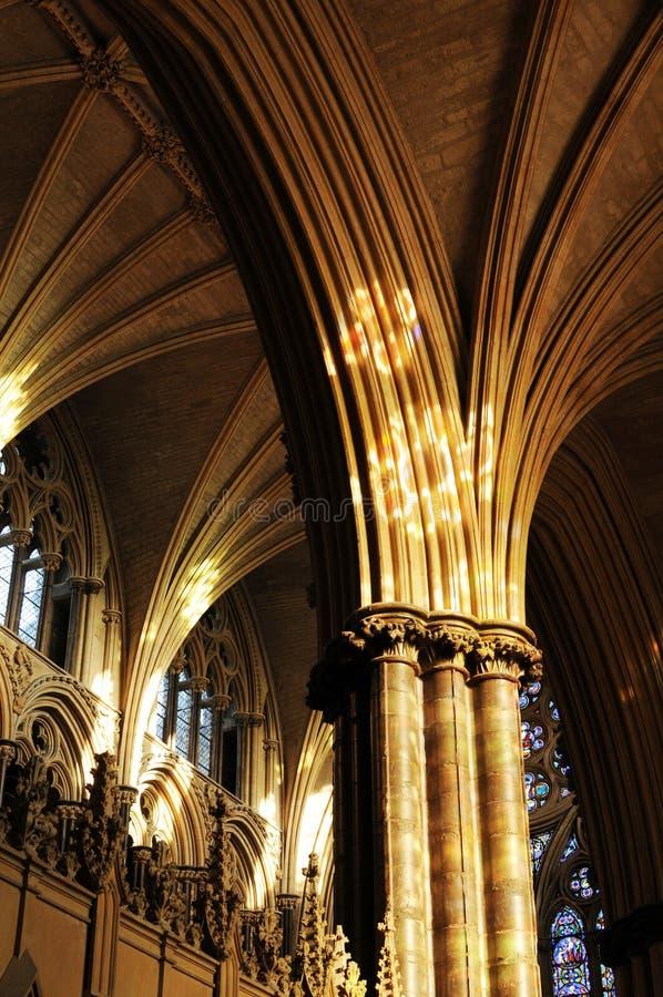 Innere Licoln Kathedrale lizenzfreies stockfoto
