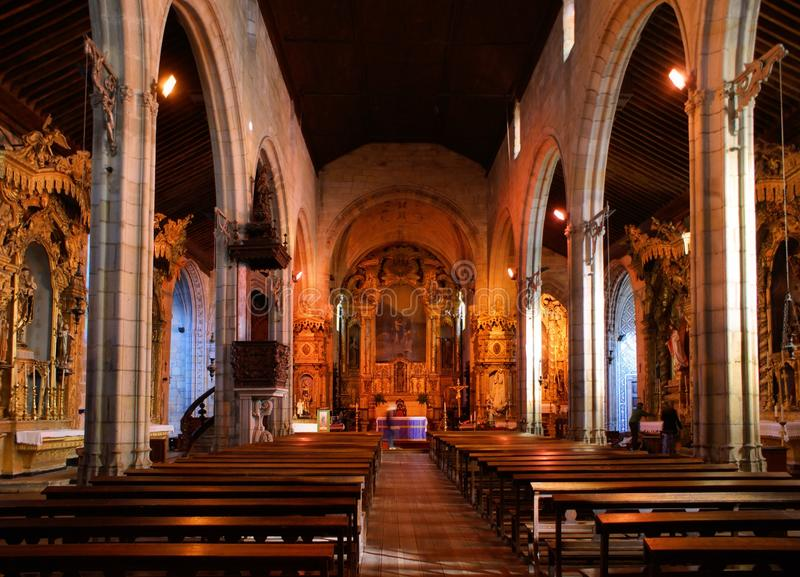 Innere Matriz Kirche von Vila do Conde lizenzfreie stockbilder
