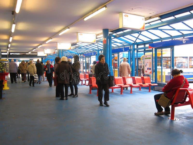Innerer Bedford-Busbahnhof. lizenzfreies stockbild