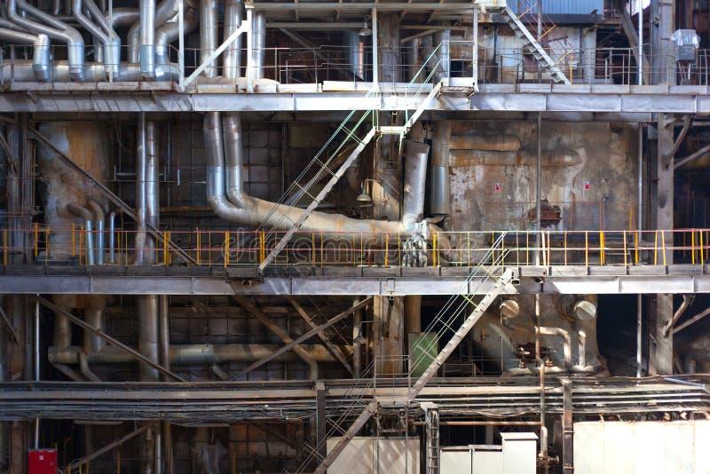 Innerer Fabrikhintergrund lizenzfreie stockfotos
