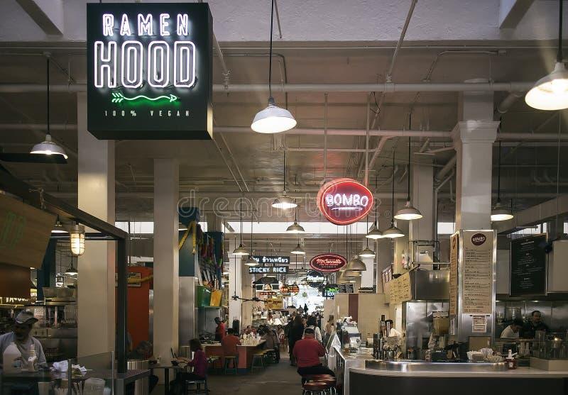 Innerer Grand Central -Markt Los Angeles Kalifornien stockbilder