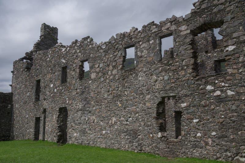 Innerer Hof von Kilchurn-Schloss, von Loch-Ehrfurcht, von Argyll und von hochgebogener Hinterkante, Schottland stockbilder