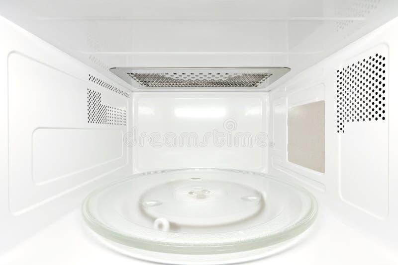 Innerer Mikrowellenherd - Frontale Ansicht Stockbilder