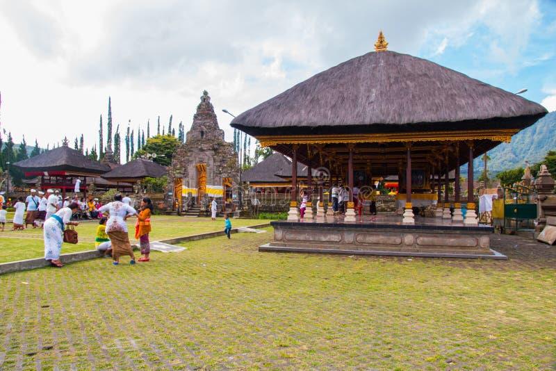 Innerer Pura Ulun Danu Bratan Water-Tempel stockfoto