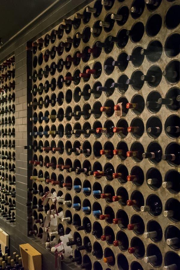 Innerer Weinkeller stockfoto