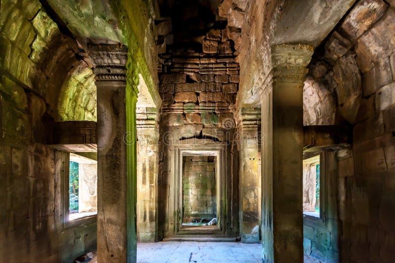 Inneres Angkor Wat stockfotos