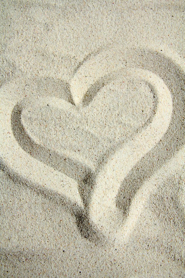 Inneres auf Sand lizenzfreies stockfoto