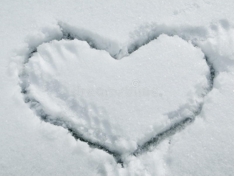 Inneres auf Schnee stockfotos