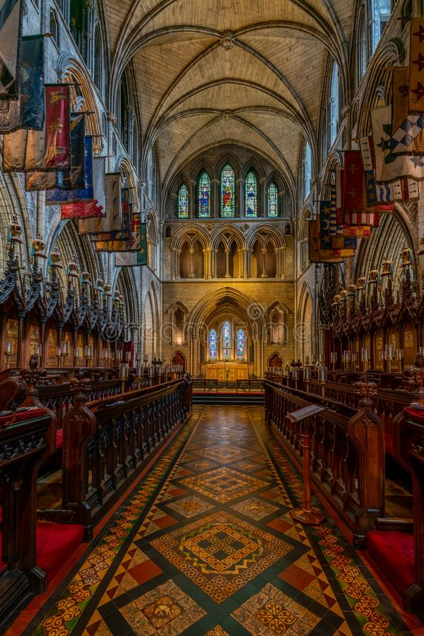 Inneres der Kathedrale Saint Patrick in Dublin, Irland lizenzfreies stockfoto