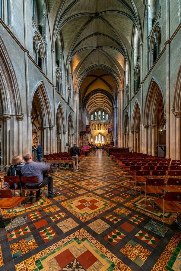 Inneres der Kathedrale Saint Patrick in Dublin, Irland lizenzfreie stockfotografie