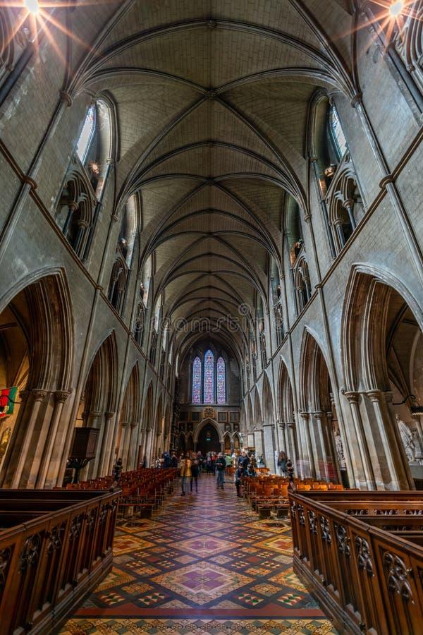 Inneres der Kathedrale Saint Patrick in Dublin, Irland stockfoto