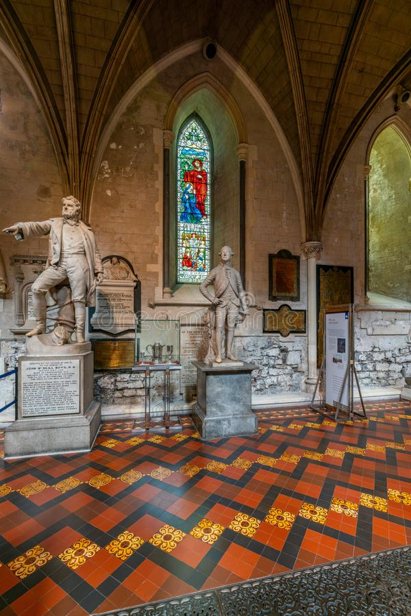 Inneres der Kathedrale Saint Patrick in Dublin, Irland lizenzfreie stockbilder