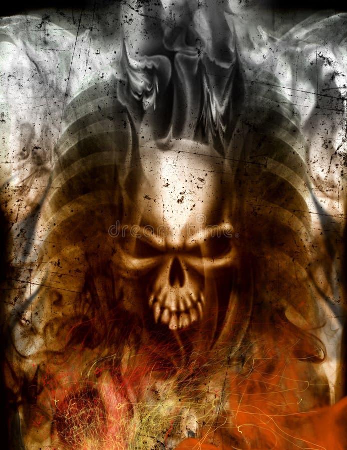 Inneres des Teufels lizenzfreie abbildung
