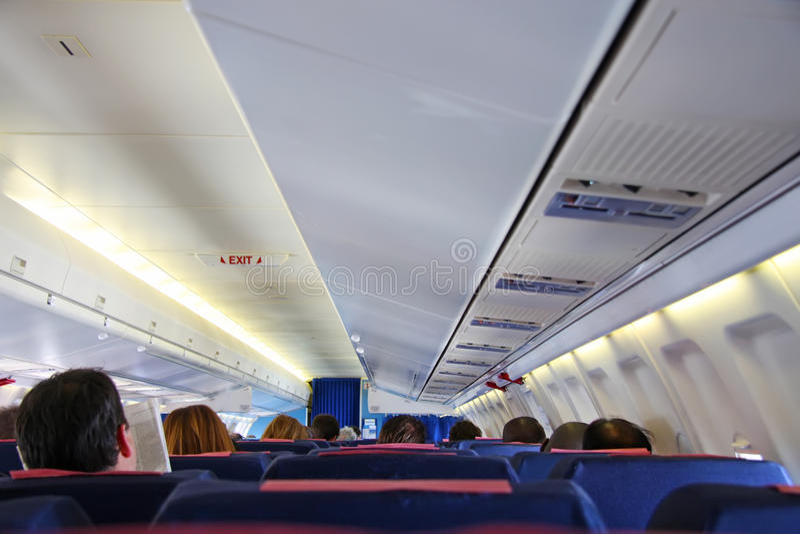 Inneres Flugzeug lizenzfreie stockfotos