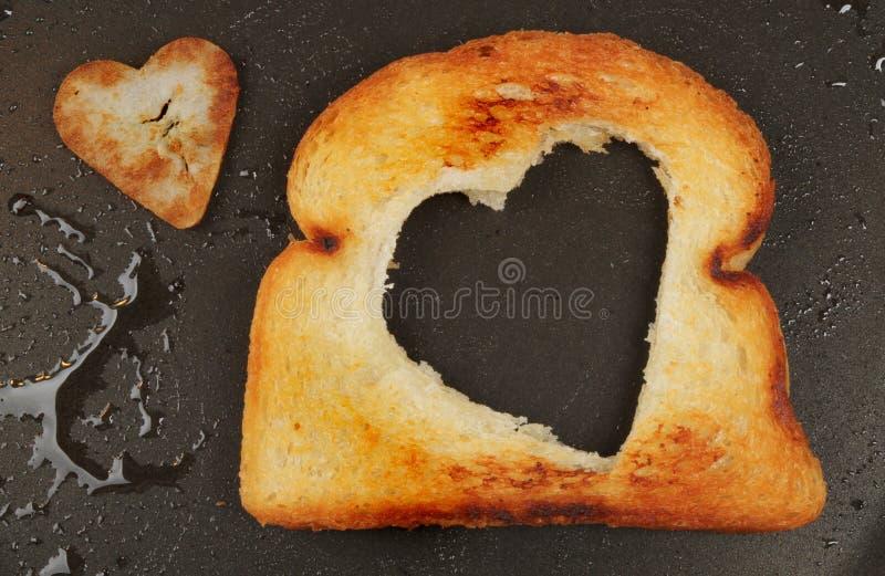 Inneres Geformtes Gebratenes Brot Stockfotos