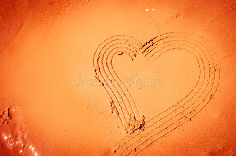 Inneres gezeichnet in Sand lizenzfreie stockfotografie