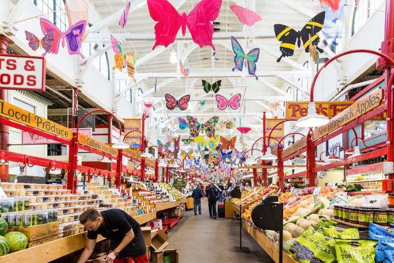 Inneres Heiliges John City Market stockbilder