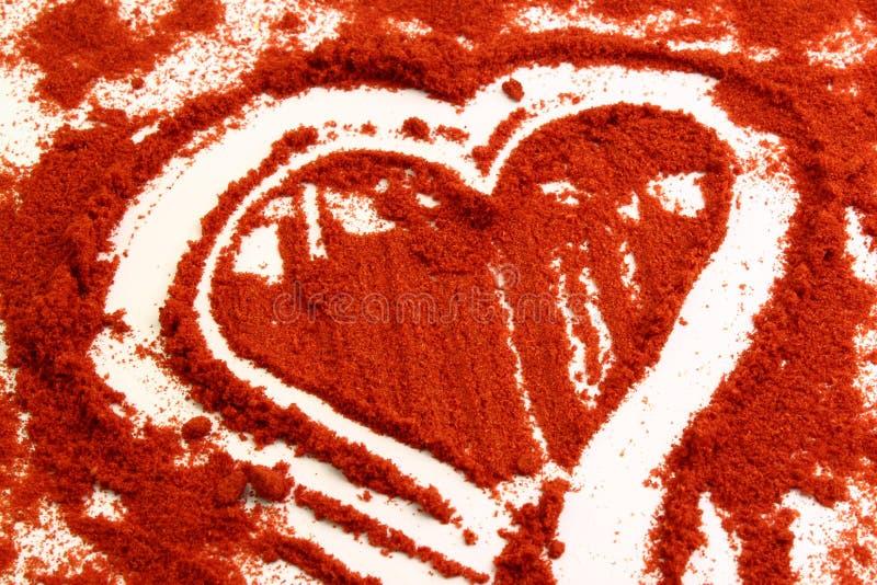 Inneres im roten Paprika stockfotos