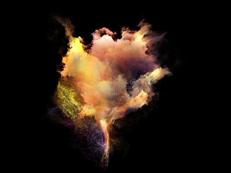 Inneres Leben von Fractal-Nebelflecken lizenzfreie stockfotografie