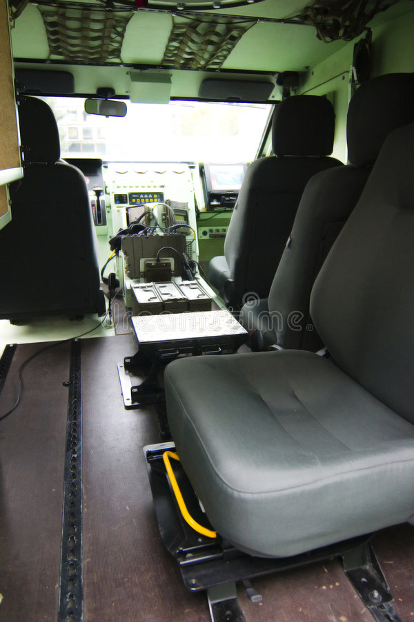 Inneres Militärfahrzeug lizenzfreie stockfotos