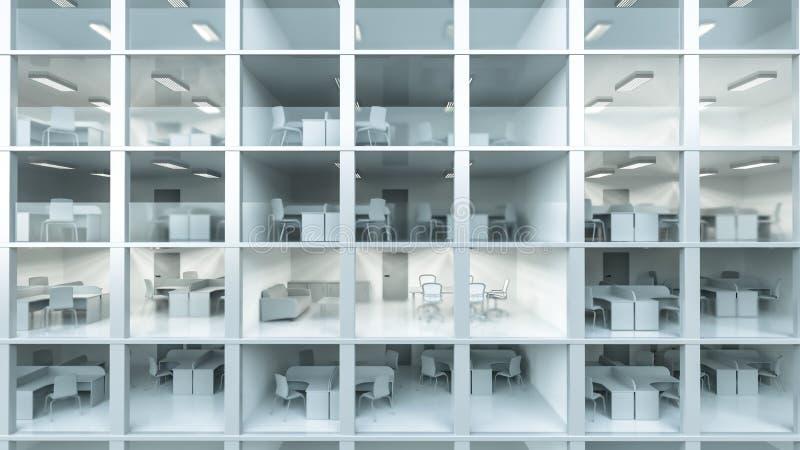 Inneres modernes Bürogebäude lizenzfreie abbildung