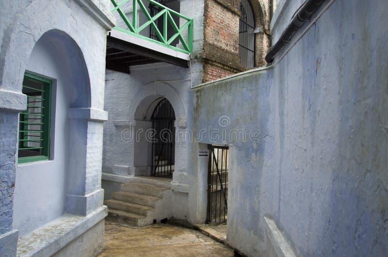 Inneres Teil des zellulären Gefängnisses, des alias Kala Panis, des Port Blair, des Andaman und der Nikobaren lizenzfreie stockfotos