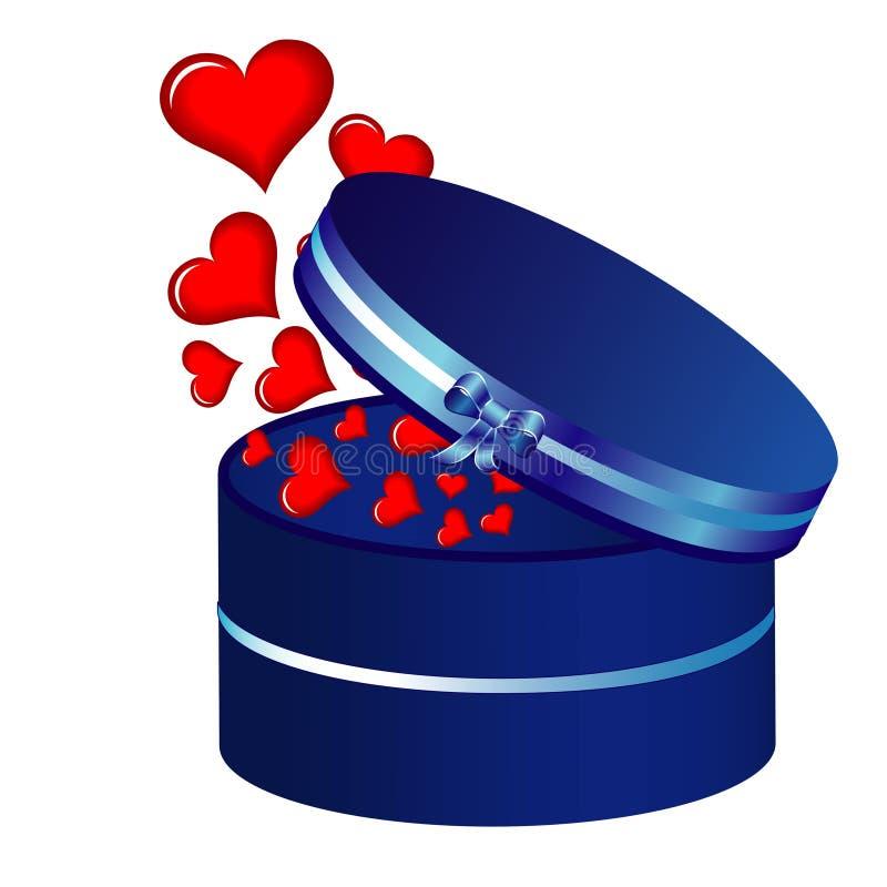 Inneres und blauer Kasten lizenzfreie abbildung