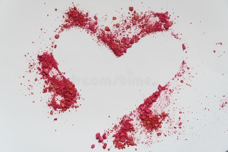 Inneres Valentinsgruß ` s Tageskarten Sandfarbherzform stockfotos
