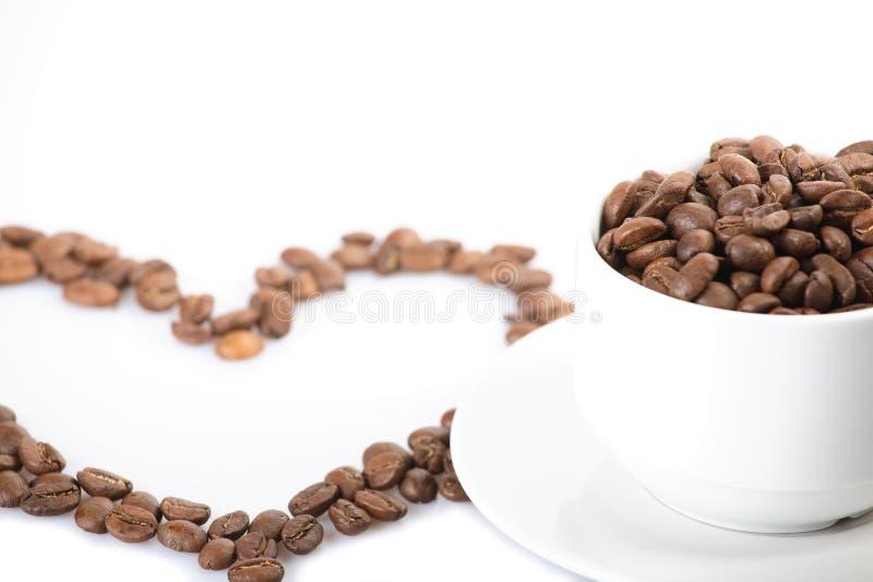 Inneres von den Kaffeebohnen lizenzfreies stockfoto
